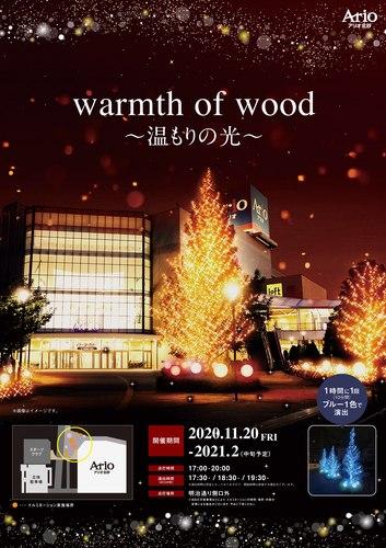 アリオ北砂 冬のイルミネーション 「warmth of wood ~温もりの光~」